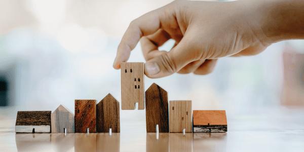 Bauklötze, die wie Häuser aussehen