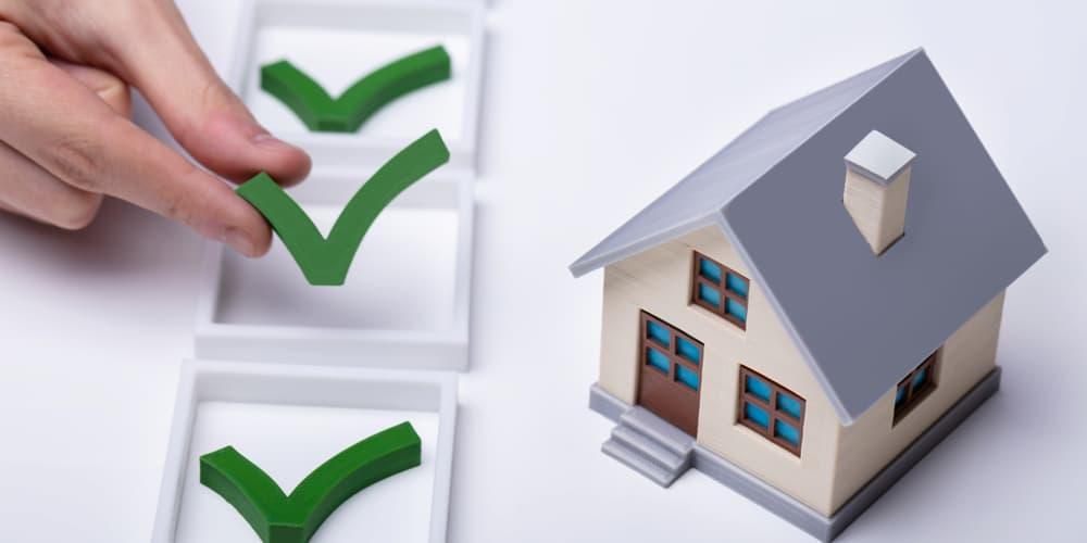 Checkliste Hauskauf – symbolisch dargestellt